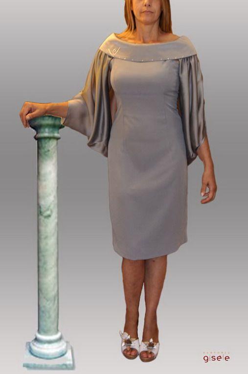"""bd3e727860e Abito da cerimonia """"Zoya"""" con coprispalle rimovibile   Vestiti donna ..."""