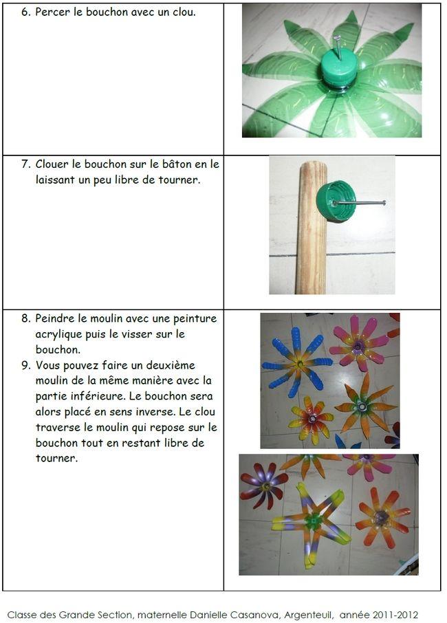Site internet de l 39 cole maternelle danielle casanova comment fabriquer un moulin vent avec - Comment fabriquer un moulin a vent en papier ...