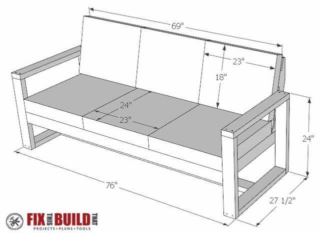 DIY Modern Outdoor-Sofa-Pläne Diy Möbel Pinterest Outdoor sofa