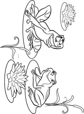 Princess and the frog coloring pages | The Princess and the Frog ...