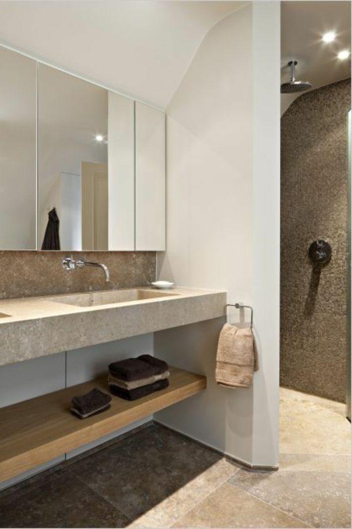 Beaucoup d\'idées en photos pour une salle de bain beige   Salle de ...