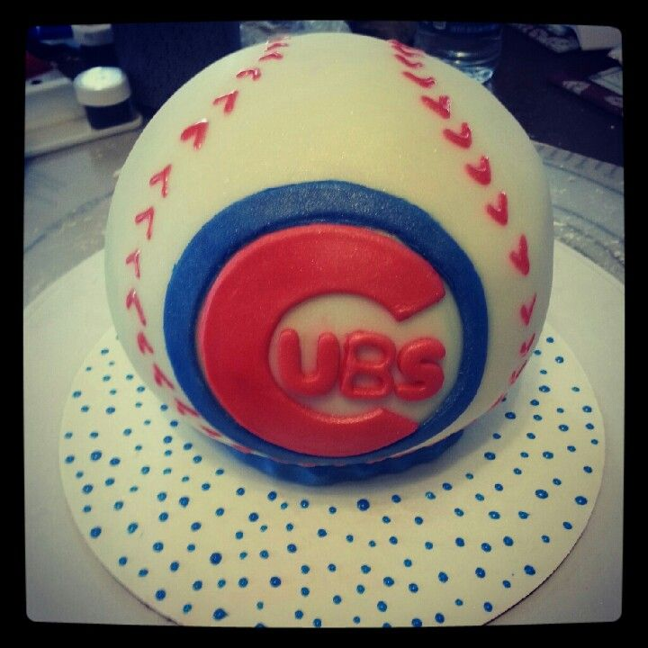 Cubs Baseball Cake My Cakes Cupcakes Amp Cake Pops