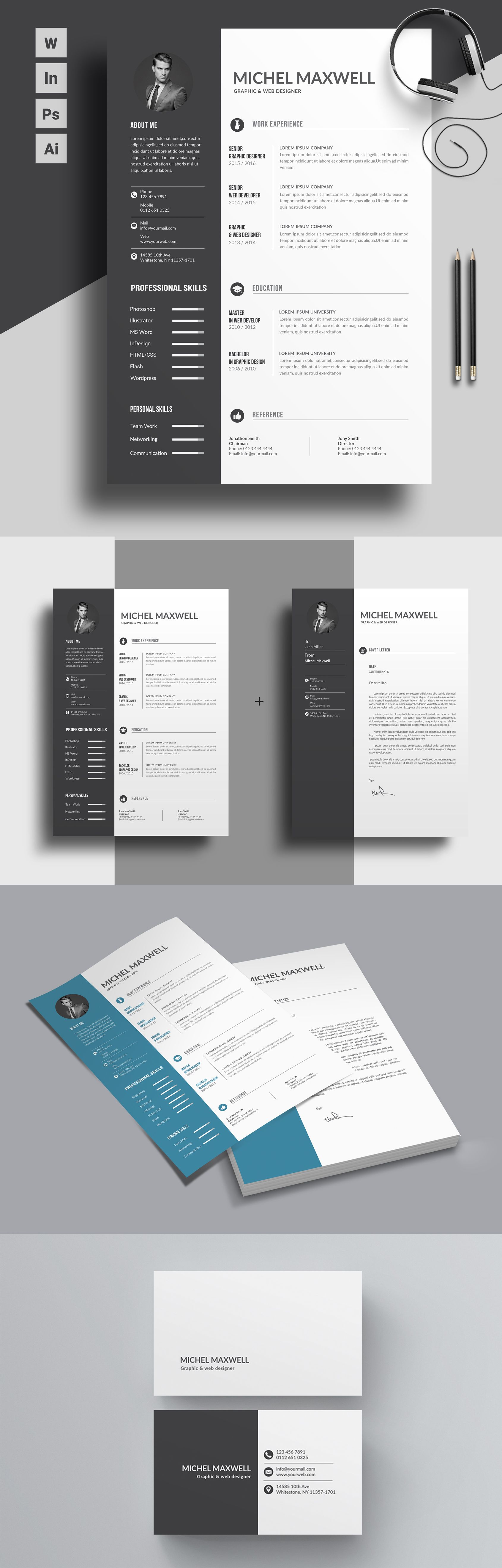 Trendy Resume Format For Professionals Suitable For All Sort Of