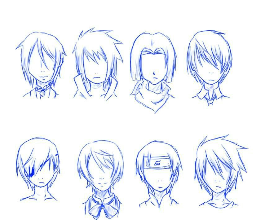 Anime Boy Hair, Anime Hairstyles Male