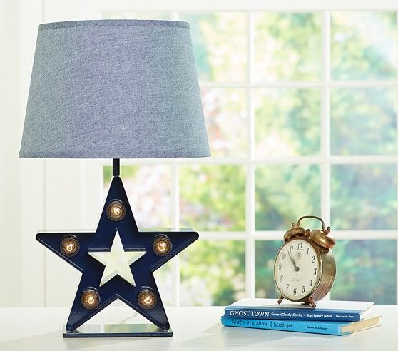 Marquee star complete lamp pottery barn kids boy oh boy pottery barn kids table lamps bedroom lamps and lamp shades make a beautiful addition to a bedroom or nursery find floor and table lamps and light up the aloadofball Choice Image