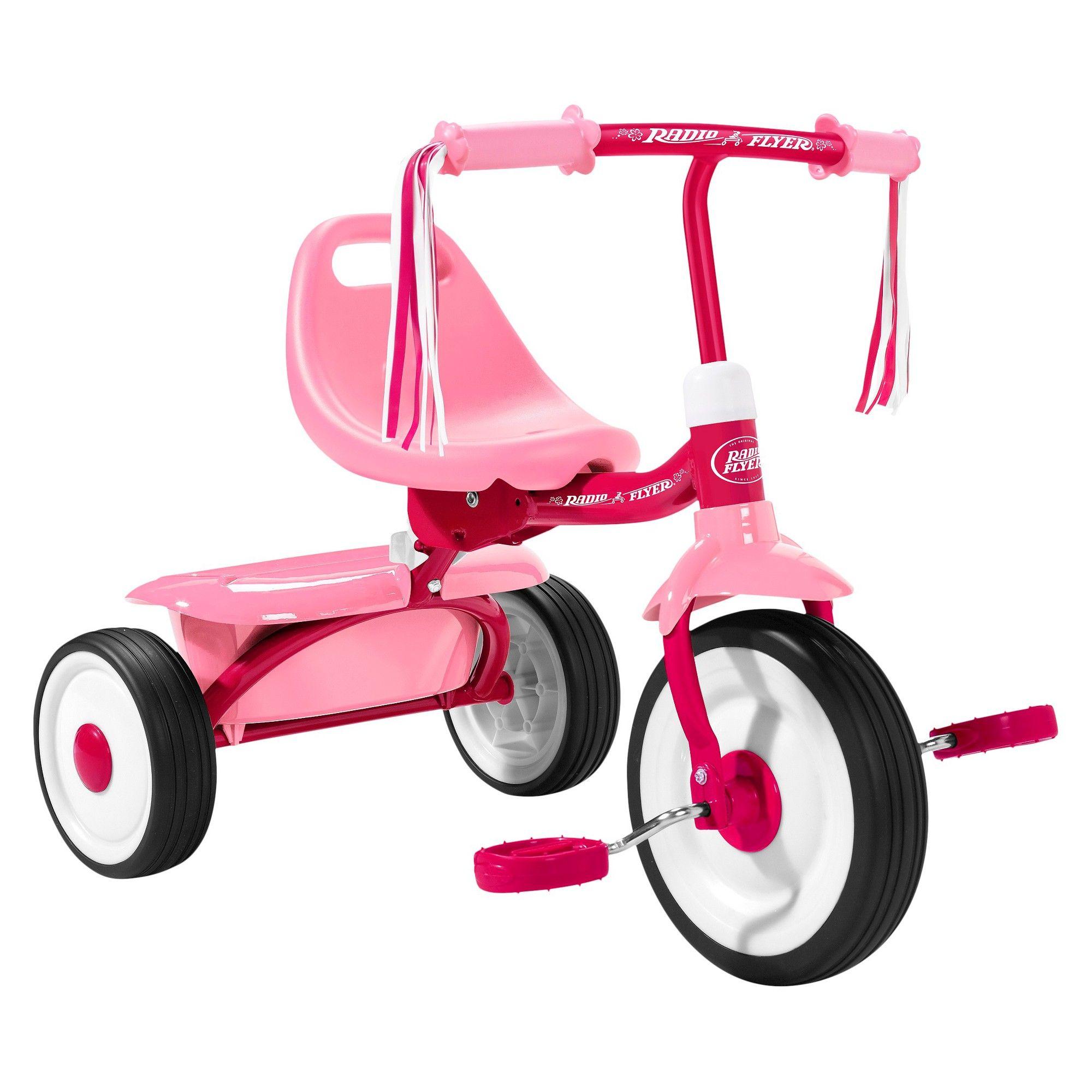 Radio Flyer Fold 2 Go Trike Pink, MultiColored