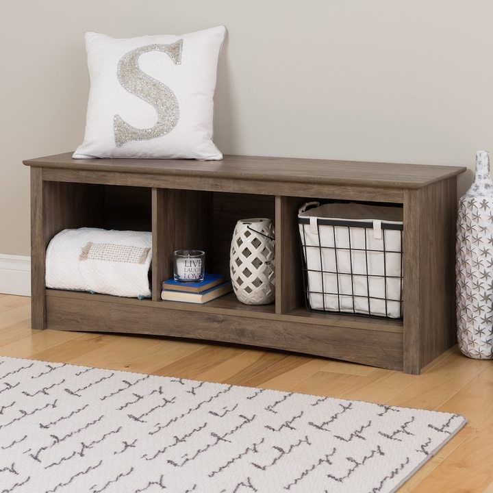 Extra Long Storage Bench Prepac Cubby Bench#kohls #rusticdecor #ad  Home Decor & Room