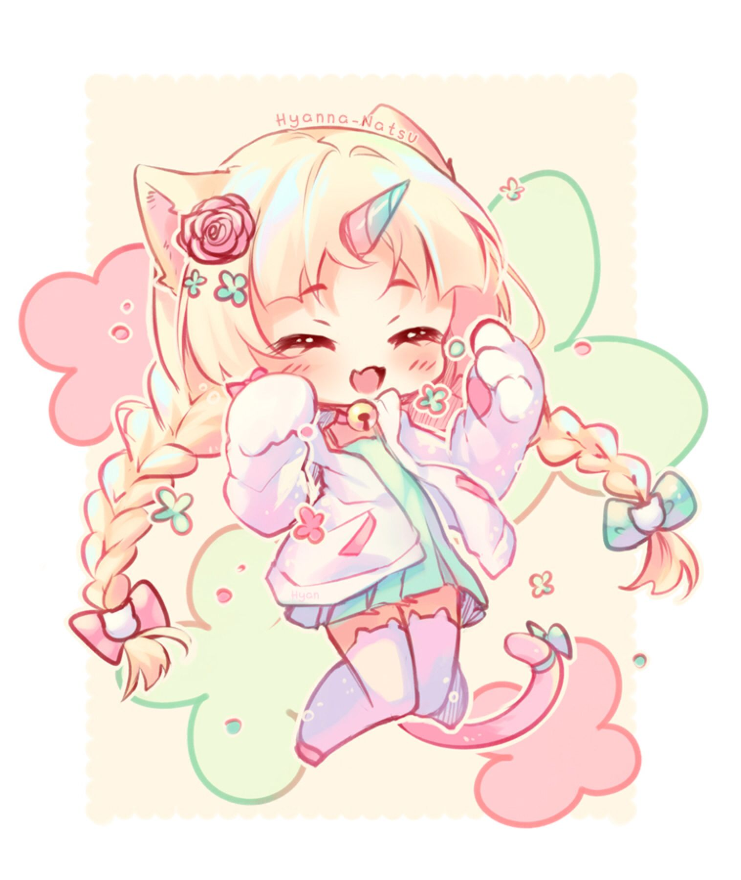 Video Commission Unicat By Hyanna Natsu On Deviantart Chibi Anime Kawaii Chibi Girl Drawings Cute Anime Chibi