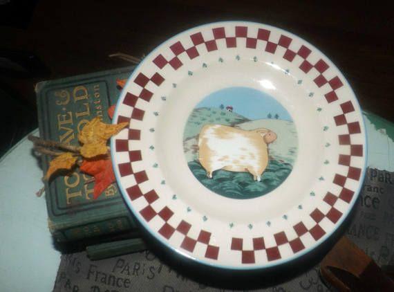 Vintage Tienshan Folk Art Farm Animals series salad plate. Antique ChinaSalad PlatesFarm ... & Vintage Tienshan Folk Art Farm Animals series salad plate. | Vintage ...