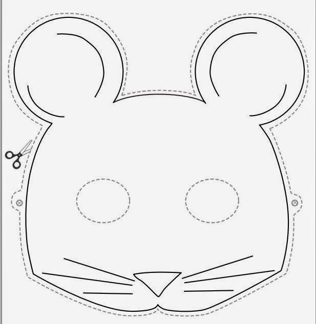 Маски животных из бумаги шаблоны для детей maski Pinterest - printable mask template