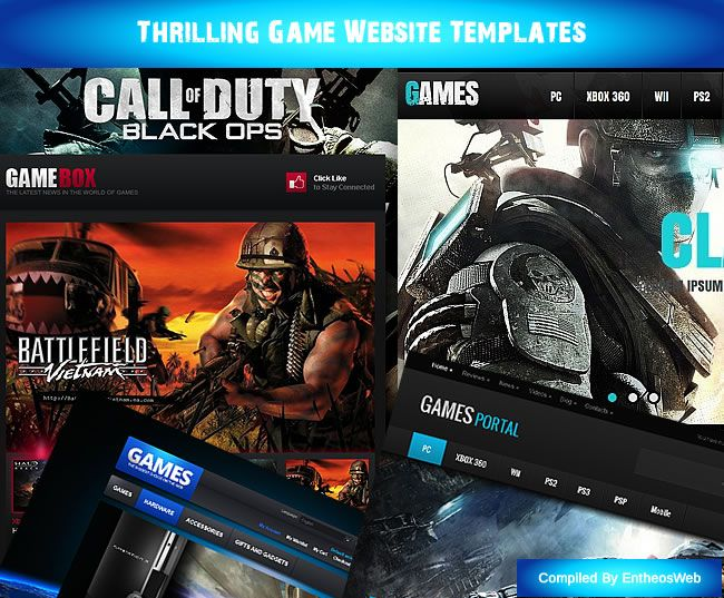 Thrilling Game Website Templates | Game Website Templates ...