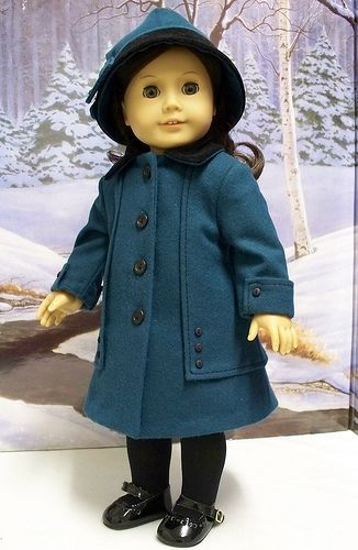 1910's Teal Wool coat and Hat