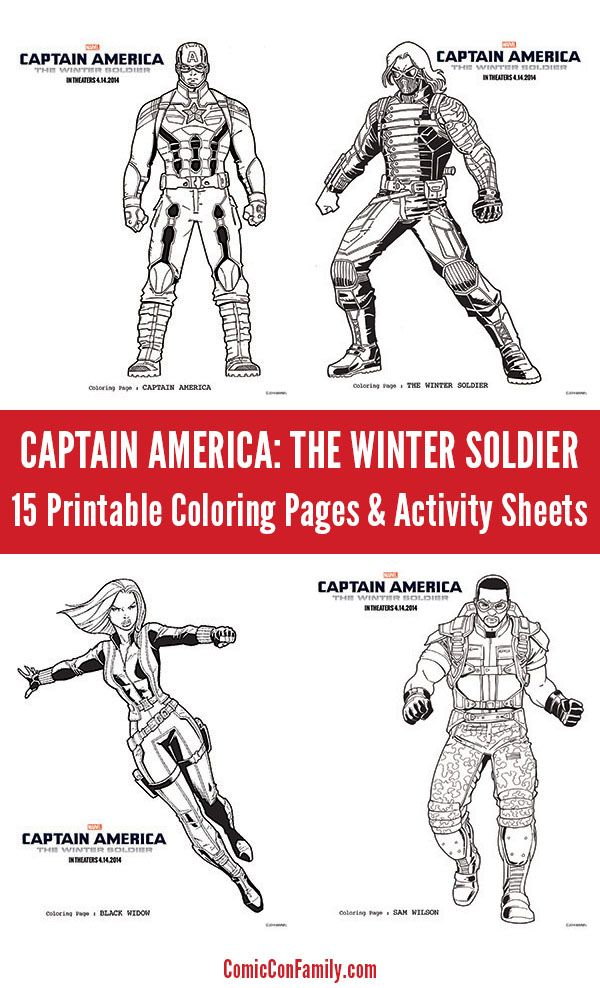 Captain America The Winter Soldier Coloring Pages Activity