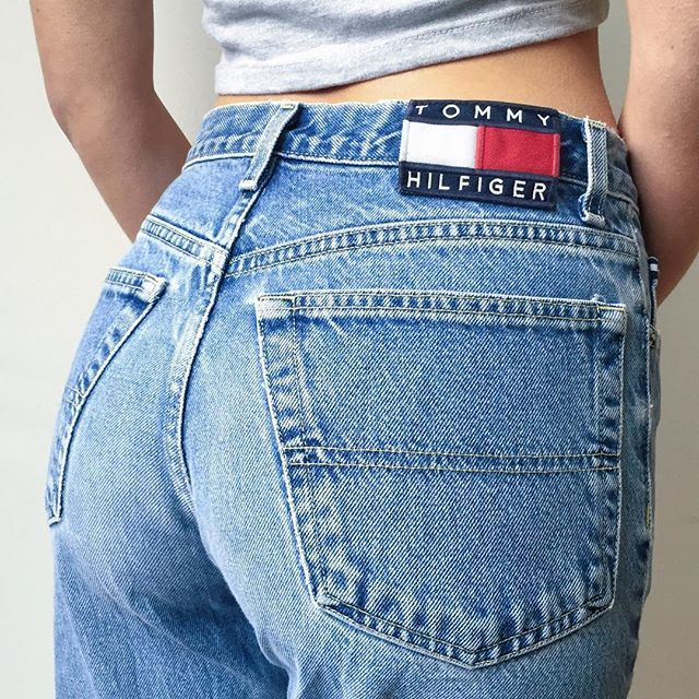 446f4e0f24facf Vintage Tommy Hilfiger logo denim | Clothes & Jewelry in 2019 ...