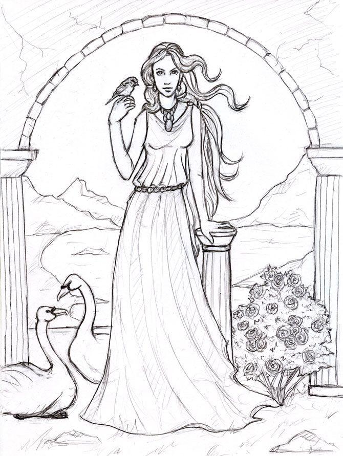 Aphrodite Goddess Of Love By Sjostrand On Deviantart Aphrodite Goddess Aphrodite Coloring Pages