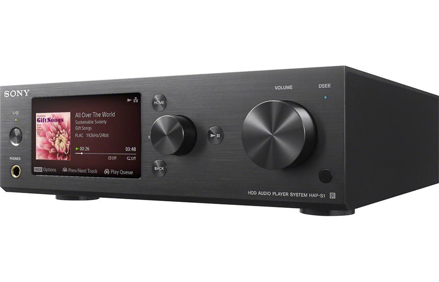Sony Hap S1 Black High Resolution Network Music Player And Integrated Amplifier At Crutchfield Sony Integrated Amplifier Stereo System