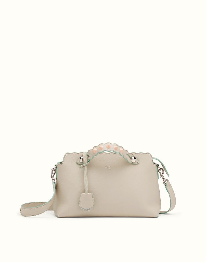 7d8daa70268 FENDI BY THE WAY - Small Boston bag in white leather - view 1 detail ...