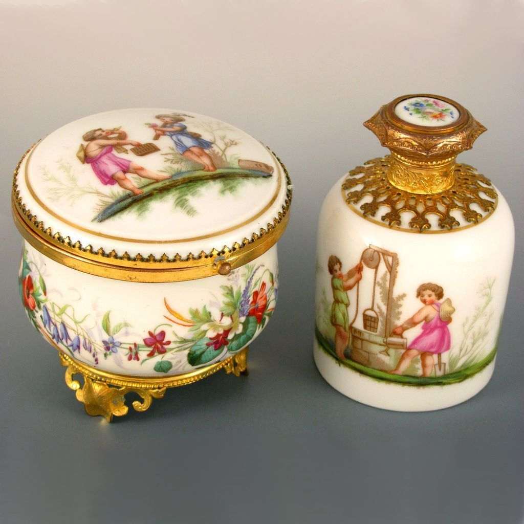 French Porcelain Vanity Set