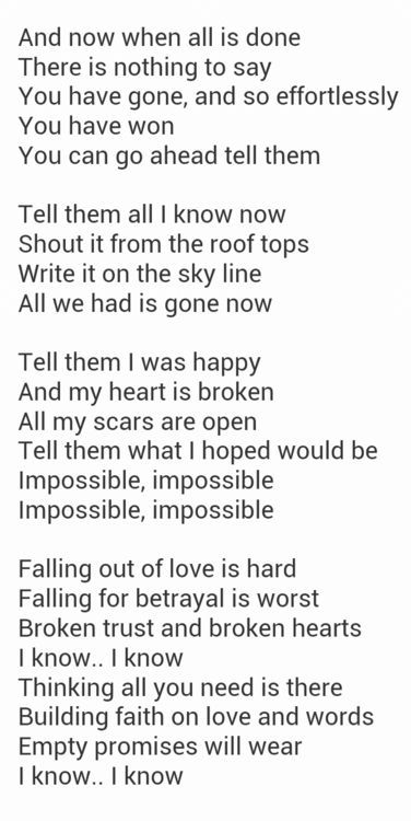 Impossible Lyric Music And Chords Pinterest