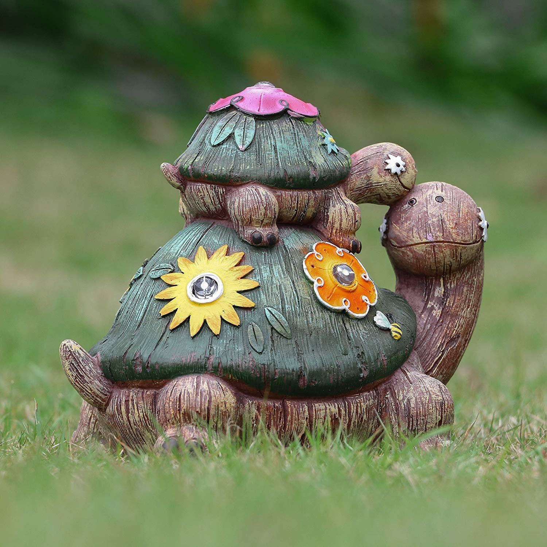 Schildkrote Gartenfigur Gartenfiguren Garten Solarlampen Garten