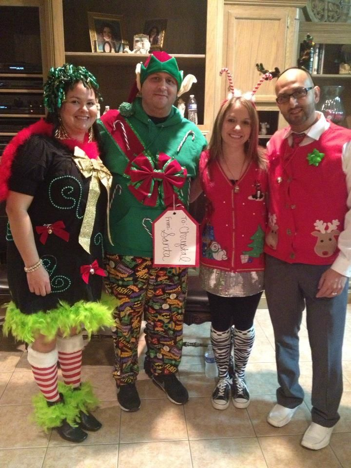 Ugly Christmas Sweater Party Outfits!! Glue gun and dollar store finds!! - Ugly Christmas Sweater Party Outfits!! Glue Gun And Dollar Store