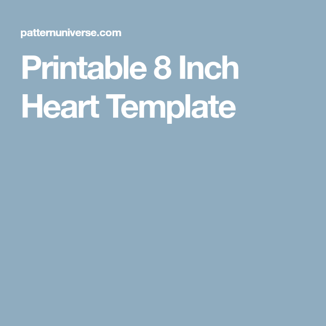 Printable 8 Inch Heart Template Memory Pillows Stenciling Color Crafts