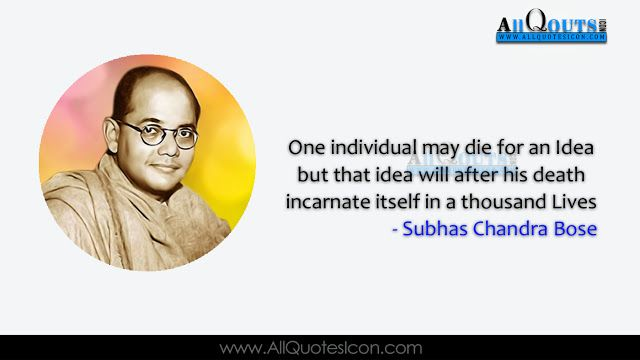 Subhash Chandra Bose Quotes Whatsapp Pictures Facebook