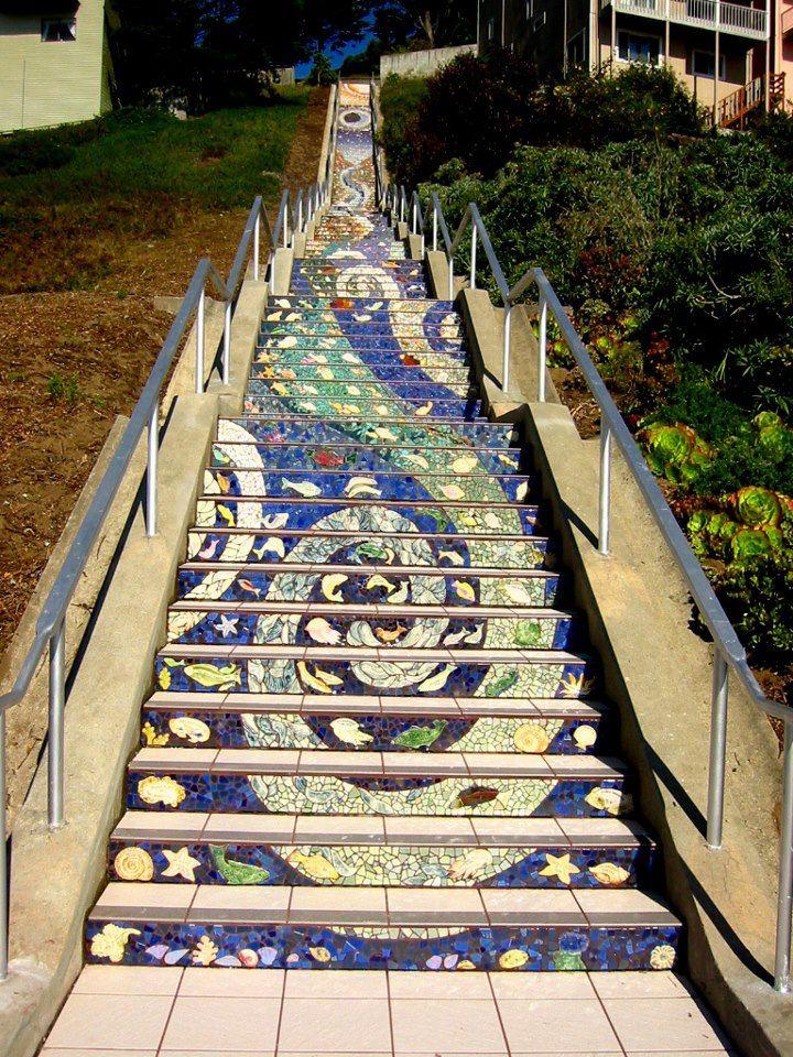 National Home Gardening Club Mosaic Stairs - San Francisco
