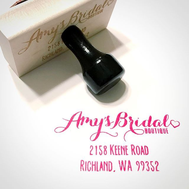 Check this rubber stamp out made for Amyu0027s Bridal Boutique 👰it - custom made invoices