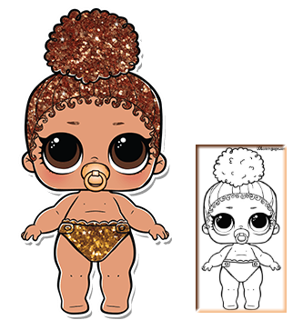 Lil Boss Queen Series 3 Wave 2 L O L Surprise Doll Coloring Page Lol Dolls Custom Dolls Coloring Pages