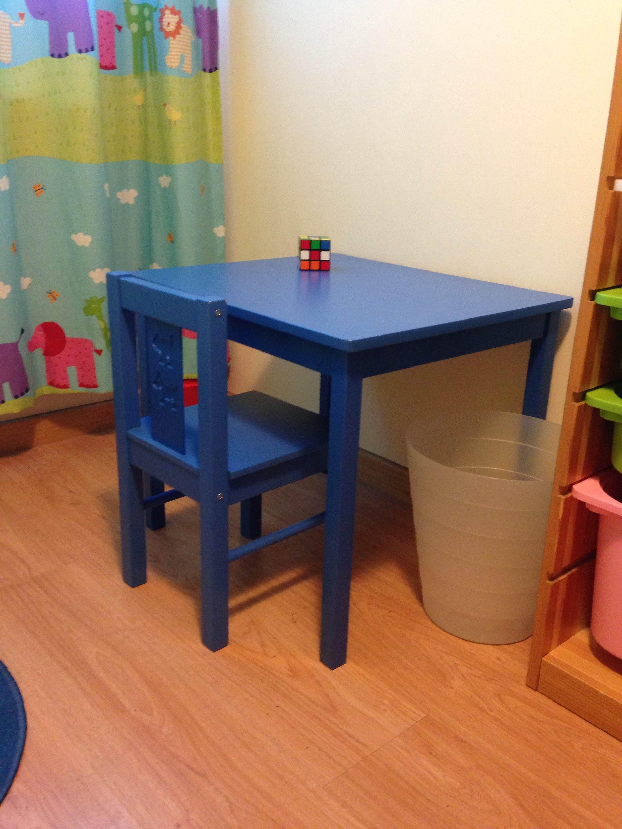 19 mesa y silla ikea kritter infantil 50cm de alto for Silla escritorio infantil ikea