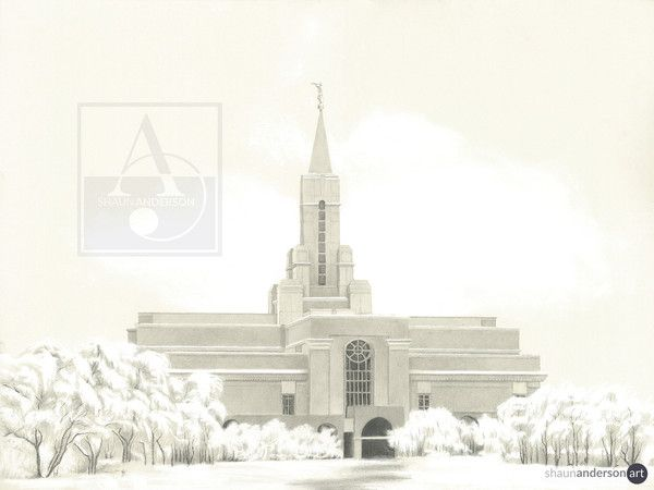 BOUNTIFUL TEMPLE  Beautiful depiction of a wintery day.   #BountifulTemple #LDSTemples #ShaunAndersonArt
