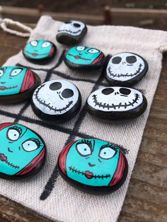 Nightmare Before Christmas Easter Idea // Kids Easter Gift // Jack and Sally Tic Tac Toe // Unique Gifts // Personalized Gifts