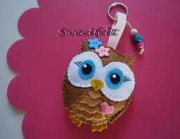 بومة كيوت Felt Crafts Felt Owls Felt Ornaments