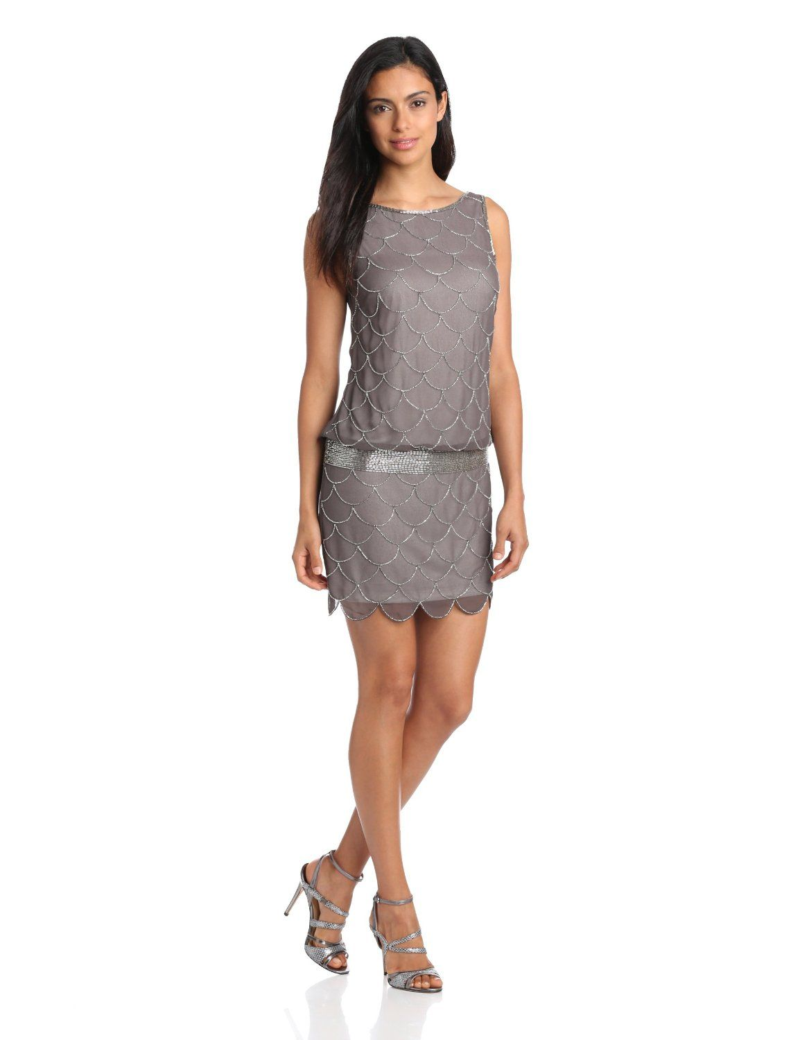 6f83debe674b7 Adrianna Papell Womens Fish Scale Beaded Dress | Clothes I Like ...