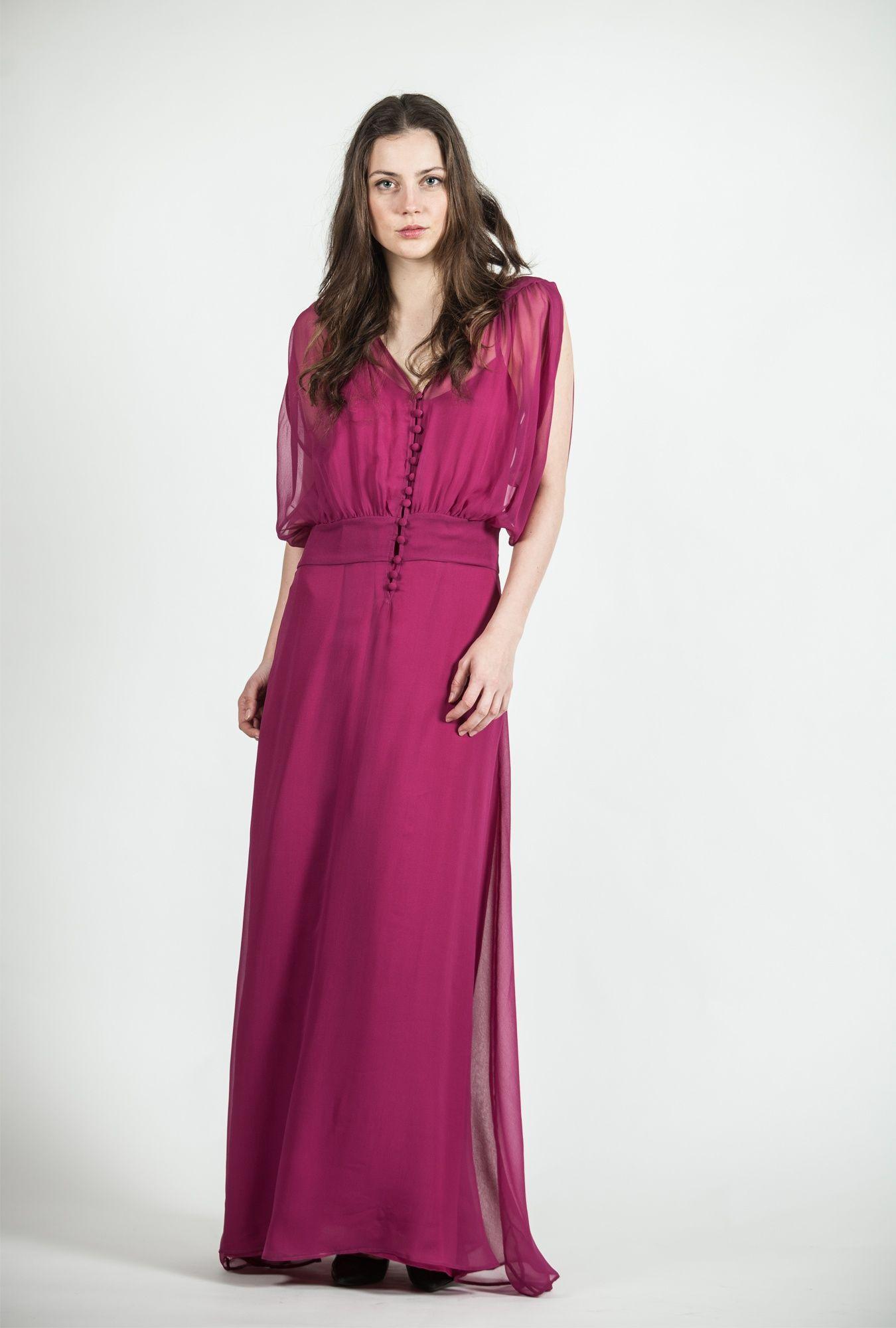 Vestido largo estilo romantico | Sayan | Ropa para dama y ...