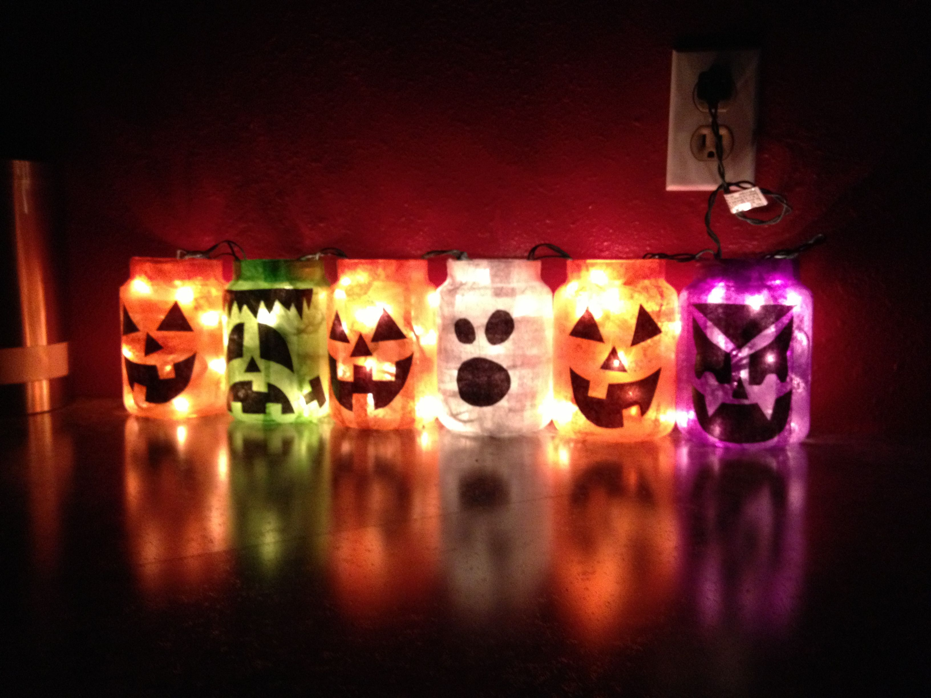 Good use for my used up Yankee Candle jars. | Halloween ...