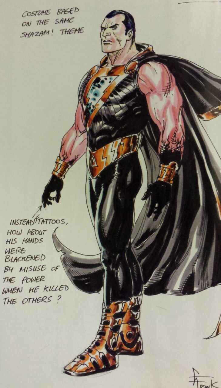 New 52 Black Adam Character Design By Gary Frank