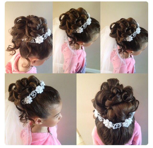 Flojera Peinados Primera Comunion Peinados Infantiles Peinados Elegantes