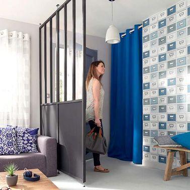 am nager une cloison amovible pour la d co de l 39 entr e. Black Bedroom Furniture Sets. Home Design Ideas