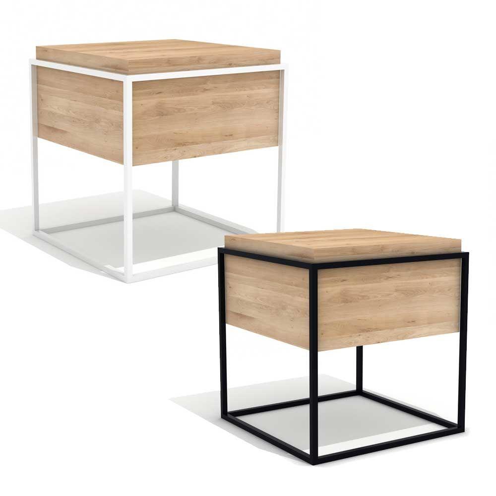 Beistelltisch Hannes M Aus Holz Und Metall Www Milanari Com Wohnzimmer Tisch Weiss Beistelltisch Beistelltisch Holz
