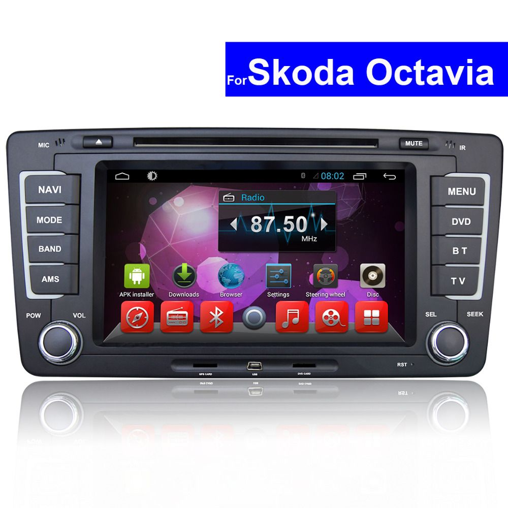 2 din touch screen car stereo with gps for skoda octavia car dvd player navigation tv