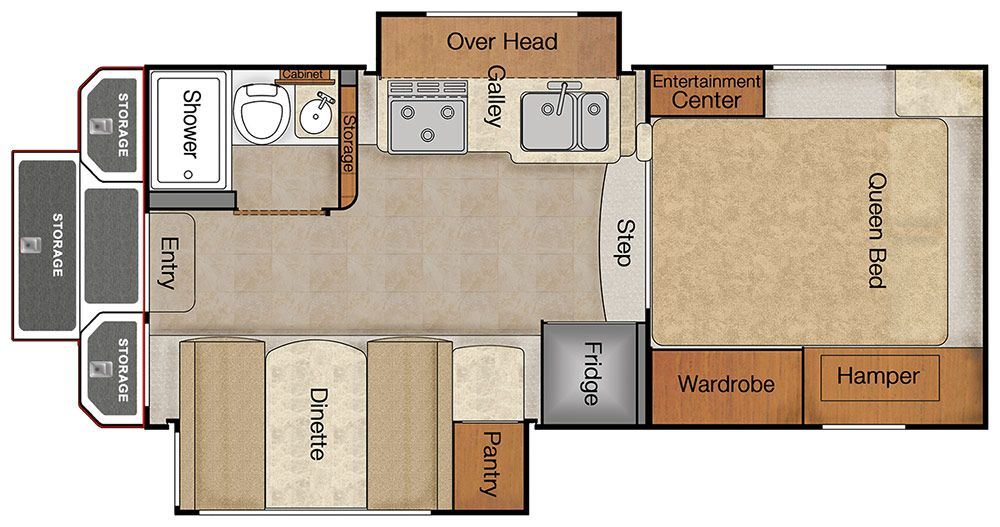 The 2016 lance 1062 floor plan double slide dry bath for Cabover house plans
