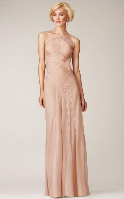 Sheath Jewel Natural Sleeveless Floor-length Formal Dresses zih014