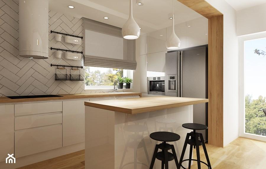 Mala Kuchnia Z Wyspa Szukaj W Google Modern Kitchen Brown Kitchens Kitchen