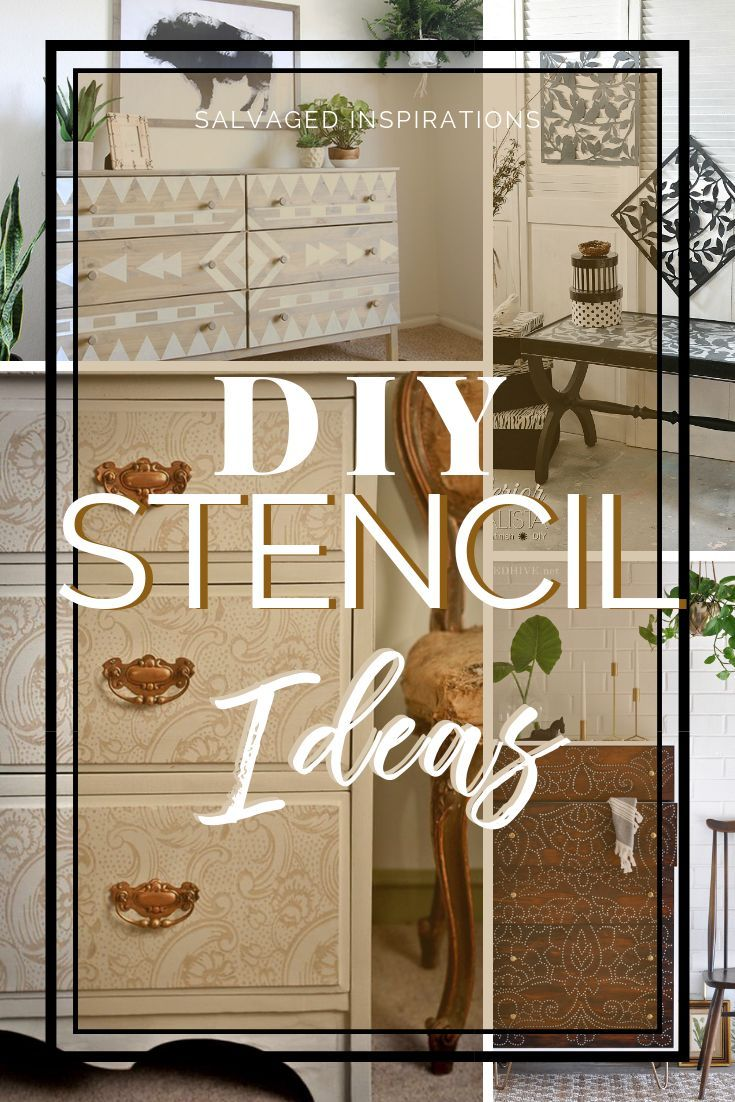 DIY Furniture Stencil Ideas | Unique and Unconventional Ways of Stenciling Furniture #siblog #salvaged #furnituremakeover #refurbishedfurniture #paintinginspo #salvagedinspirations #furniturerescue #vintage #DIY