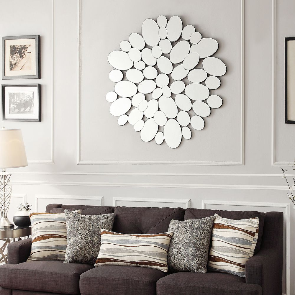 INSPIRE Q Mason Oval Collage Silver Finish Water Drop Accent Wall Mirror by  iNSPIRE Q