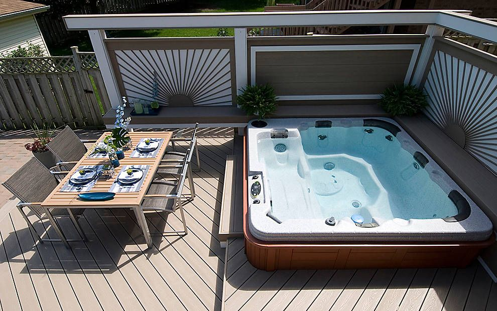 Photo Gallery Showing Trex Installed Around Pools And Hot