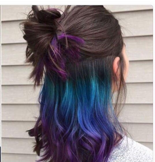 Turquoise blue purple hair -  #,  #blue #hair #purple #turquoise #UnderlightsHairturquoise