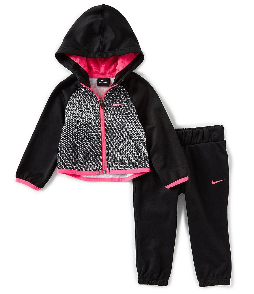 d70275365 Nike Baby Girls 12-24 Months Therma-FIT Graphic Hoodie and Pants 2-Piece Set